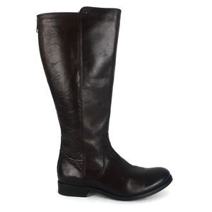 Frye Melissa Stud Brown Leather Knee High Boots